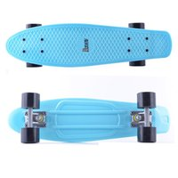Wholesale US Stock inch Ice Blue Penny Board Skateboard as the gift for girls