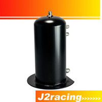 Wholesale J2 RACING STORE BLACK Liter Alloy Dome Fuel Surge Tank Swirl Pot AN6 In AN8 Out Aluminum PQY TK16