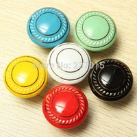 Wholesale 10pcs Retro Furniture Ceramic Door Knobs Cabinet Drawer Cupboard Kitchen Pull Handle