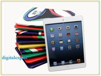 Wholesale For iPad mini World Cup PU Leather Dustproof Smart Cover Stand Case Fold Sleep Wake Up Protector with Package