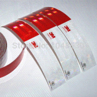 Wholesale 3M reflective stickers car decoration stickers reflective strips red and white cm cm M8612