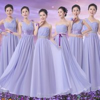 Wholesale Mission purple bridesmaid dress big yards long section sisters dress bridesmaid dress bridesmaid dress evening dress new bride