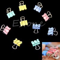 Wholesale 1 Set Colorful Metal Binder Clips Paper Clip mm Office Supplies New
