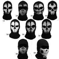 Wholesale Call of Duty COD Cosplay ghost skull masks Balaclava Ghost Skull Face Masks Full Face Masks Wargame Helmet performance props