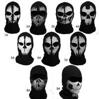 cod - Call of Duty COD Cosplay ghost skull masks Balaclava Ghost Skull Face Masks Full Face Masks Wargame Helmet performance props
