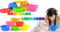 Wholesale Dog Cat Fashion Colorful Silicone Collapsible Feeding Water Feeder Bowl Pet Supplies Travel Dish Folding Dog Bowl for Pet Dog