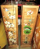 Cheap Factory direct cabinets wood CD cabinet drawer file cabinet five Chinese hand-painted flower XZ-0081