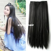 Wholesale Long Straight Hair One piece clips in hair extensions Full head top Colors LX0023