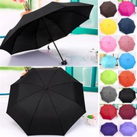 Wholesale Hot Sales Windproof Mini Compact Folding Handbag Umbrella Household Sundries Beauty Colors CX41
