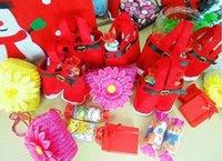 Artículos de Navidad al por mayor! Pantalones calientes estilo de Santa bolsa de regalo de dulces de Navidad 20pcs Bolsa regalo de Navidad mucho