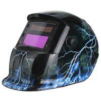 Wholesale Blue High Quality Professional Solar For Lightning Welding Grinding Helmet Auto Darkening MIG TIG ARC Hood TDB