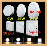 12W ac panel mount - 10pcs DHL NEW Ultra thin led down light lamp W W W W led ceiling recessed downlight slim Round Square panel light