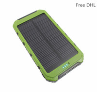 led high power - 10pcs High quality LED Dual USB solar power bank Panel Battery solar portable Charger mah For xiaomi Mobile Phone TY