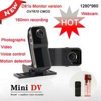HDMI Mini caméra vidéo monde s plus petite voix recoder mini caméra sans fil DV (mini, photos, D81, HDMI, TF / carte SD ne comprennent pas)