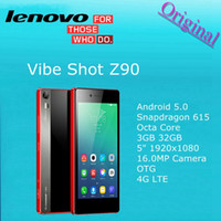 Wholesale Original Lenovo Vibe Shot Z90 cellPhone Qualcomm Octa Core Android GB RAM GB ROM G LTE inch x1080px MP