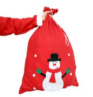 cute drawstring bag - Christmas Bag Favors High Quality Printed Drawstring gift Packaging Pouch size Cute Christmas Bags S0831