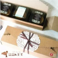 Wholesale hot sell Kraft Brown Paper cake package Box Wedding Party Favor Soap Cake Macaron Cookie Packaging Gift Box