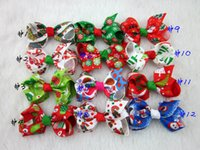 Barrettes christmas ribbon - Christmas Ribbon Hair Bows WITH CLIP for Christmas Party Decoration inch Boutique Hair Bows Kids Christmas Gift