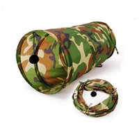 Wholesale Camouflage Tunnel for Cats Polyester Fiber High Quality Activated Lights Tunnel for Cat with Interactivity and Fun TG CTOY0032