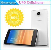 Wholesale U45 MT6582M GHz Android cellphones Quad Core WCDMA GSM Mobile Phone quot IPS QHD G GPS smartphone