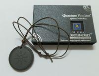 air free circles - Lava Stone Pendant Energy Quantum Scalar Pendant with Energy Card Box Air Men Design Anti radiation Healthy Necklace R