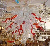 big ceiling lamp - 80 cm Large Modern Big White and Red Glass Pendant Lamp Ceiling Lighting Light Chandelier Discount