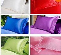Wholesale Home Textile Hot Sale Mulberry Pure Silk Pillow Case White black pink purple red yellow Envelope Style Pillow Covers