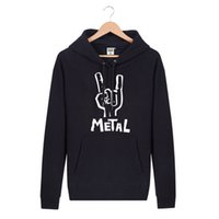 autumn metal band - Hooded Pullover METAL Rock Band Brand Hip Hop Spring Autumn Winter Hoodies Men Cotton Sports Sweatshirts