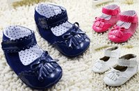 china shoes - Cute bow baby shoes Velcro side port single tassel shoes Spring Autumn girls indoor toddler shoes outlets baby wear china pair cl