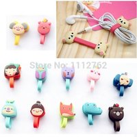 Wholesale 1PCS Foldable Cartoon Earphone Winder Cable Cord Organizer Holder For Iphone Mp5 Hot YbA5Q