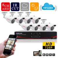 Wholesale SunChan Home MP Outdoor CCTV Security Camera System Channel AHD P H DVR Video Surveillance System Camera Kit HDMI
