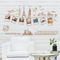 architectural wall decals - bedroom decoration Three generations of wall stickers factory fashion removable wall stickers European and American architectural