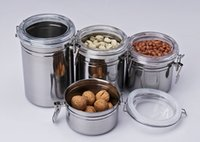 airtight canisters kitchen - 4pcs stainless steel airtight kitchen fresh box storage box canister set Colorful Kitchen Canister Jar