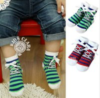 Wholesale 2016 Baby striped short socks newborn toddler girls cotton shoes socks kids stockings colors