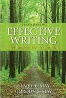 Wholesale Effective Writing A Handbook for Accountants th Edition by Claire B May Gordon S May free DHL