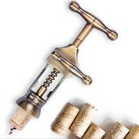antique wine corkscrews - Retro European Red Wine Bottles Opener Zinc Alloy Material Corkscrew Middle Age Style Cork Puller Antique Bronze Color