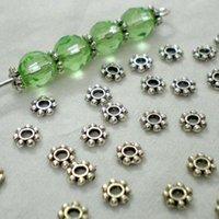Wholesale Beautiful Bead Tibetan Silver Daisy Spacer Metal Beads mm