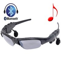 Wholesale Wireless Hands Free Sunglasses Black Glass Sunglasses with Stereo Bluetooth Headset Fit for iPhone Samsung s6