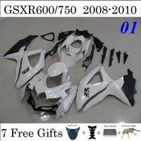 Wholesale Pearl White Fairings Fit Suzuki GSXR600 GSXR750 GSXR Injection Mold Cowling Kits OEM Design