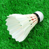Wholesale Professional Badminton Training Competition Shuttlecock Set Two layer Wood Head Goose Feather Badminton Shuttlecocks