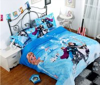 Cheap Frozen Bedding set Hot selling 3D printed 100% Cotton Children Bed Linen for Girls Boys Kids Single double Bed children gifts
