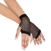Wholesale Black Short Womens Girls Fishnet Gloves Fingerless Gothic Punk Rock Costume Fancy Dress Party Accessories