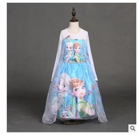 dhgate girls - Frozen cartoon dress Elsa Dress kids clothes Baby Custom Cosplay Anna Girl Dresses Princess Costume Children dress Christma Gifts Dhgate