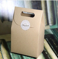 Wholesale Gift Box Kraft Box Craft Box Bag with Handle Soap Candy Biscuits Packaging Paper Boxes