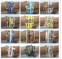 handcuffs - 500PCS Unisex Vintage Handcuffs Bracelets Women Infinity Bracelets Woven Bracelet Friendship Bracelet Bangles Women Bracelets