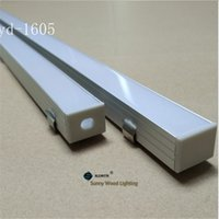 aluminium light fittings - aluminium base for LED bar light aluminium profile for double row led strip of mm pcb with fittings YD