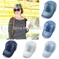 Wholesale Womens visor Cap Snapback Hat Sun Visor Trucker Denim Jean Hat Colors