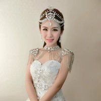 artificial diamond jewelry - Luxury Bridal Jewelry Wedding Bouquet Wedding Decoration Artificial Bridesmaid Crown Shoulder Chains Crystal Diamond Bridal Accessories