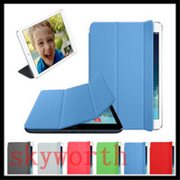 Wholesale Magnetic Smart Cover for Ipad Pro Mini ipad ipad air Leather Polyurethane Case Stand