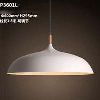 Wholesale Simplicity Nordic style white black pendant lamp Minimalist dining room lamps DIY creative bar droplight vintage lighting fixtures cm cm